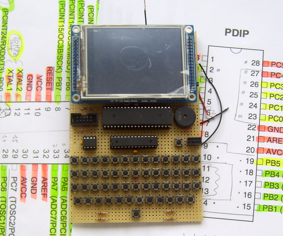 Apple Emulator The Hardware Is Implemented By Using A Avr Atmega88 Microcontroller First Prototype On Perfboard